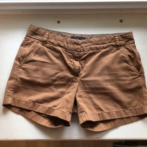 J. Crew chino shorts in dark khaki